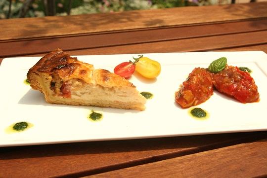 四種のトマト&白味噌のキッシュとラタトゥイユ
